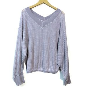 NWT Free People V-neck Slouchy Sweater Size Small